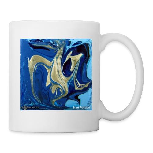 TIAN GREEN Welt Mosaik - AT042 Blue Passion - Tasse