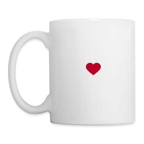 Vit Gray heart Muggar - Mugg