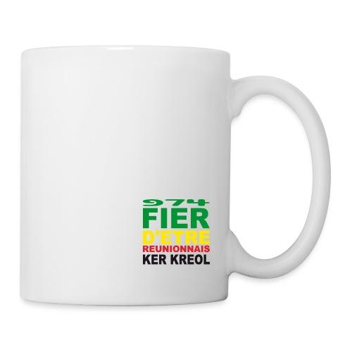 Logo fier d'etre kreol 974 ker kreol - Rastafari - Mug blanc