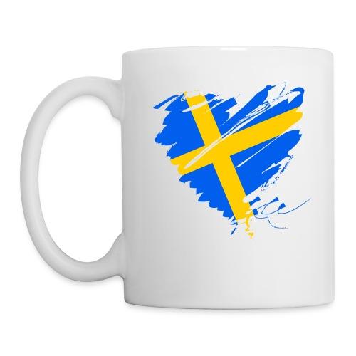 Schweden Skandinavien Europa Fahne Grunge Herz - Mug