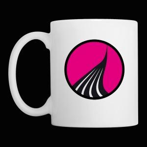 Logo cercle magenta - Mug blanc