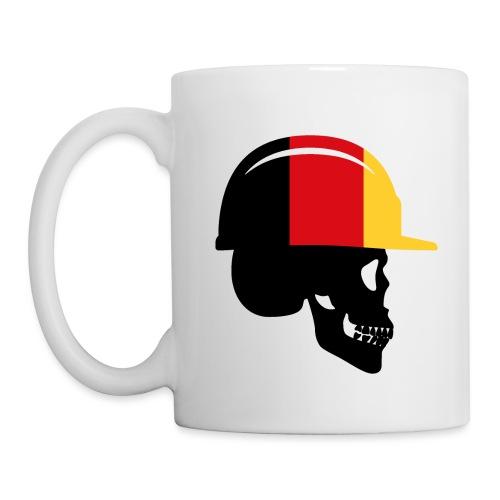 Deutschland Schädel mit Bauhelm - Tasse