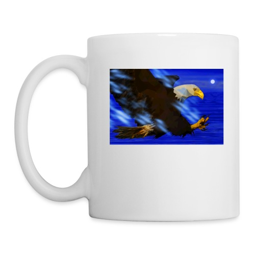 aguila low poly - Taza