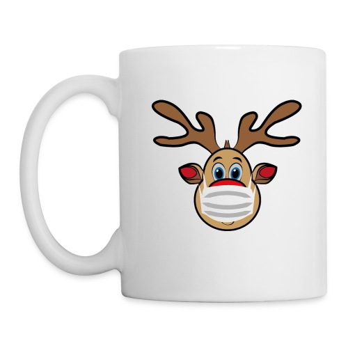 Ugly Xmas Rudi Reindeer mit Maske - Tasse