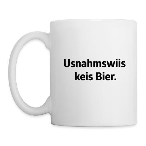 Usnahmswiis kei Bier - Tasse