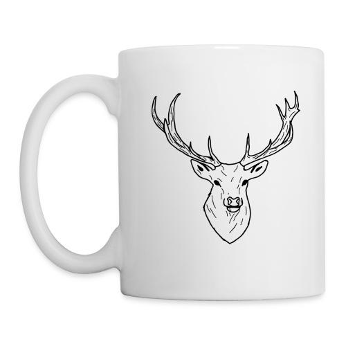 Deer White & Black - Mug blanc