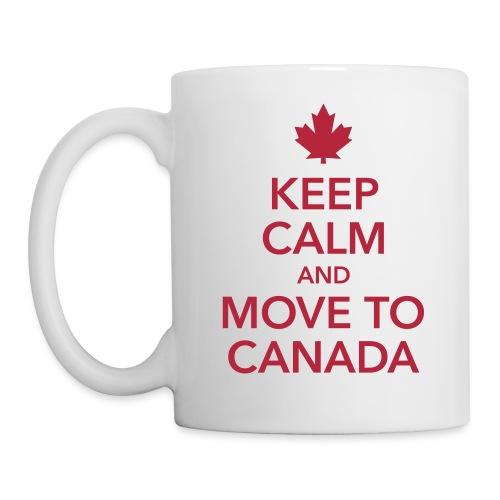 keep calm and move to Canada Maple Leaf Kanada - Mug