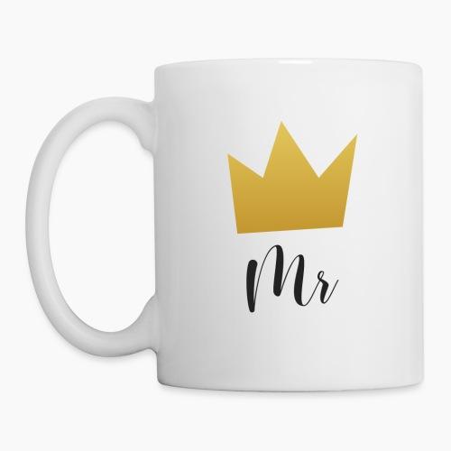 Mr and Mrs with Crown - Mug