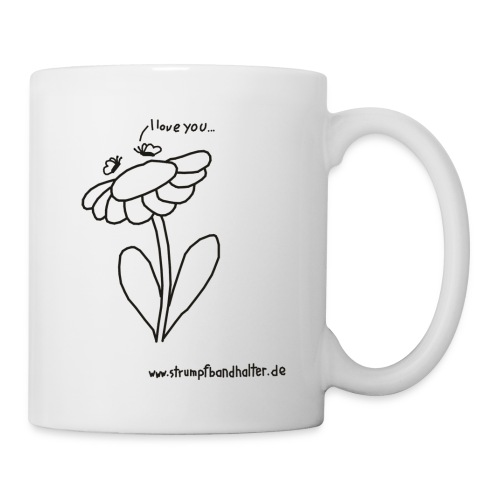 Tasse I love you Schmetterlinge auf Blume - Tasse