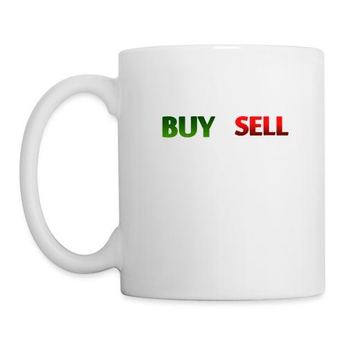 Buy Sell mit weißer Person - verschiedene Farben - Tasse