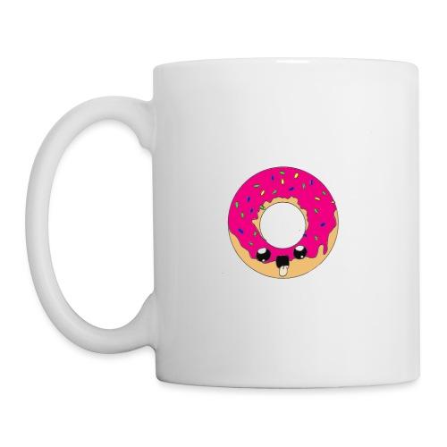 donut2 red - Mug blanc