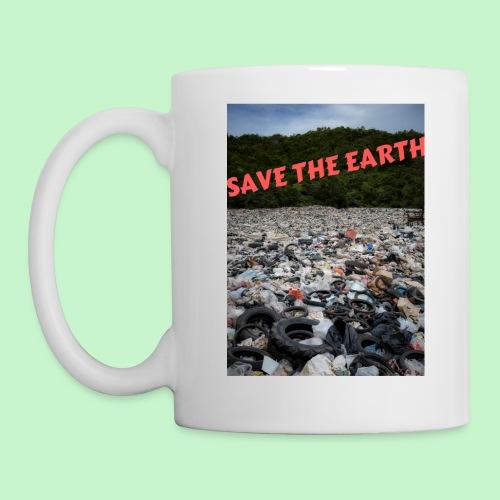 save the earth - Mug blanc