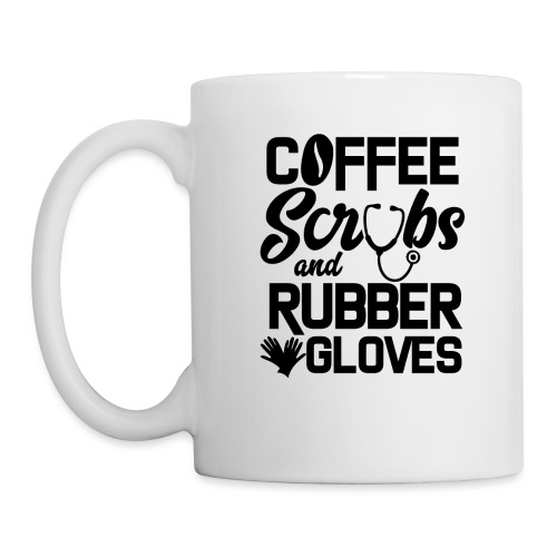 Coffee scrubs and rubber gloves - Mug