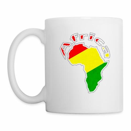 Afrika - rot gold grün - Tasse