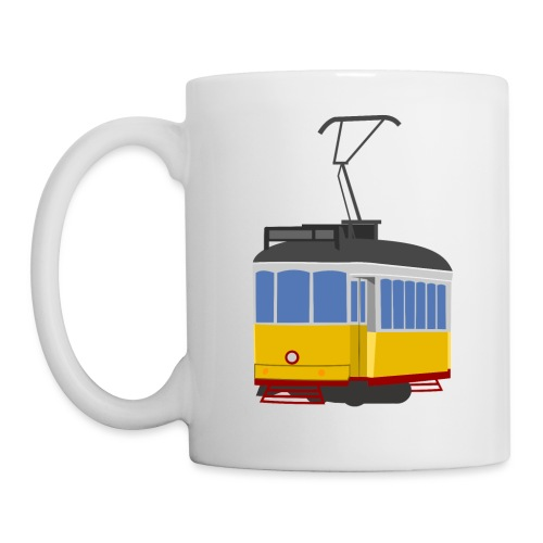 Tram car yellow - Mug
