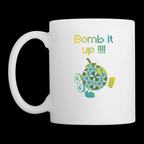 Bomb It Up : Yellow Power !!! - Mug blanc