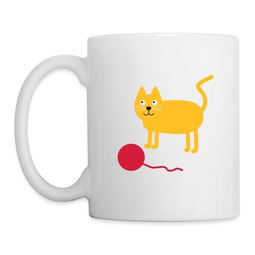 Katze mit Wollknäul - Tasse