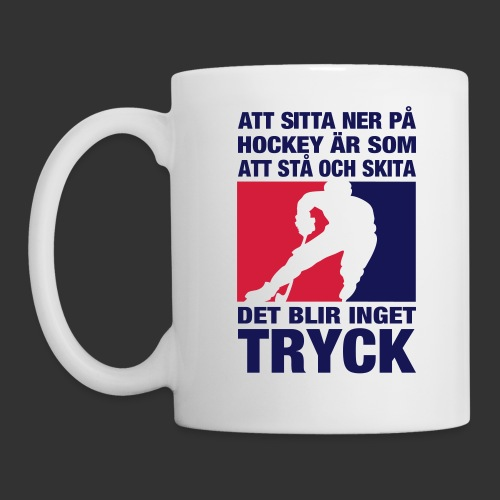 Att sitta ner på hockey.... - Mugg