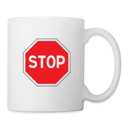 Panneau Stop - Mug blanc