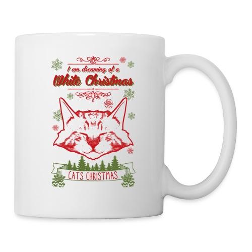 Weihnachtskatze - Tasse