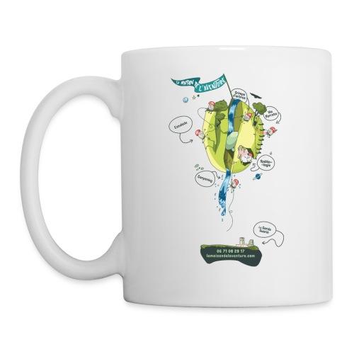 T-shirt Maison de L'aventure - Mug blanc
