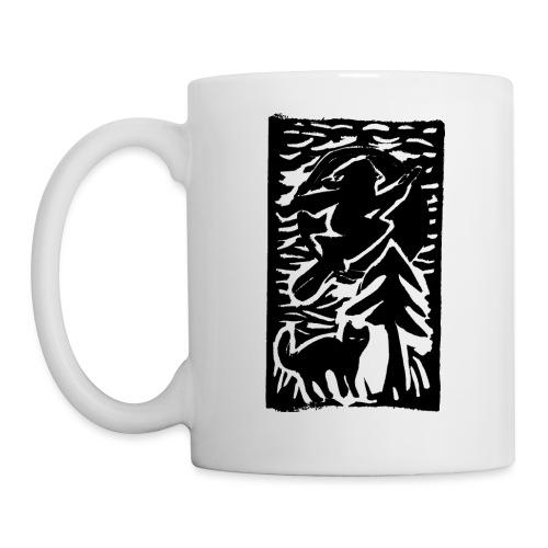 Hexe mit Katze - Tasse