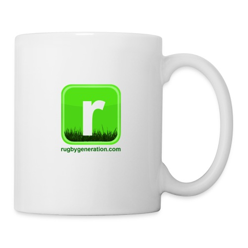 logo et texte en bas 150dpi transparent png - Mug blanc