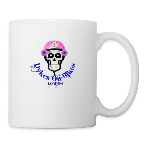 biker skull member with DOB Logos - Mug