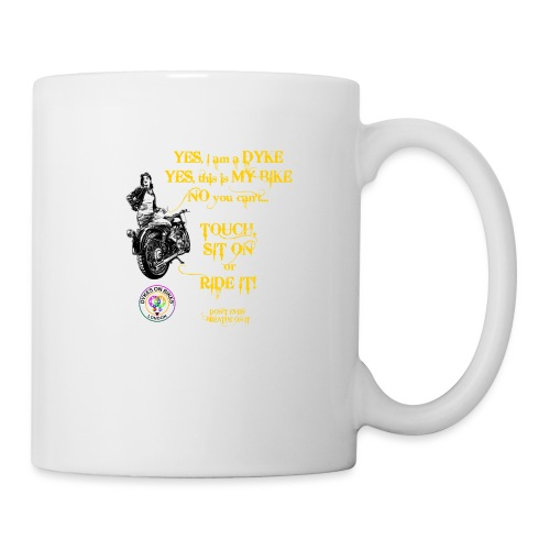 Member no touch YELLOW with DOB Logo - Mug