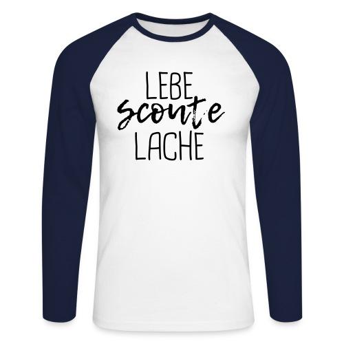 Lebe Scoute Lache Lettering Brush - Farbe wählbar - Männer Baseballshirt langarm