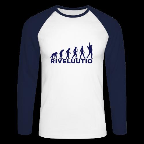 Riveluutio - Miesten pitkähihainen baseballpaita