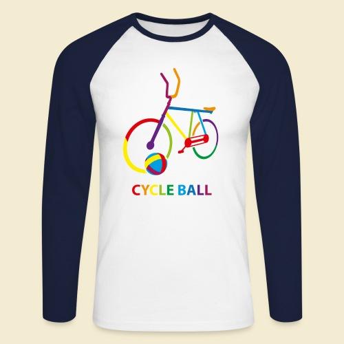 Radball | Cycle Ball Rainbow - Männer Baseballshirt langarm