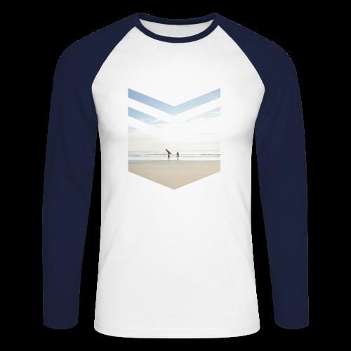 Surfing Beach - Männer Baseballshirt langarm