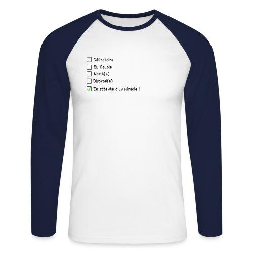 En attente d'un miracle ! - T-shirt baseball manches longues Homme