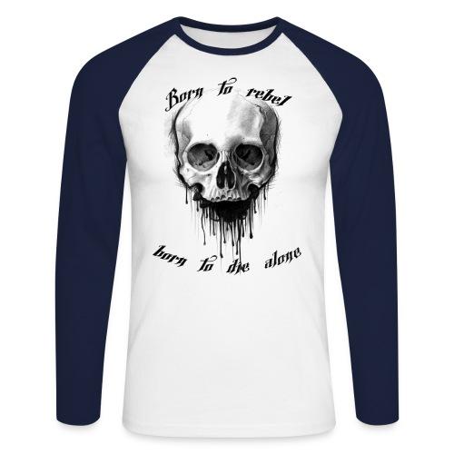 Born to rebel - Männer Baseballshirt langarm