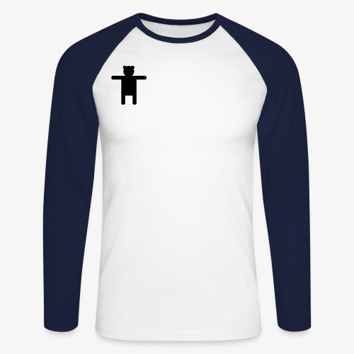Epic Ippis Entertainment logo desing, black. - Men's Long Sleeve Baseball T-Shirt