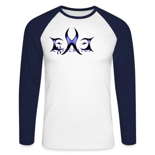 exe logo - Miesten pitkähihainen baseballpaita