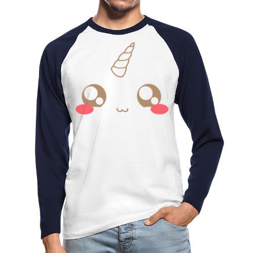 Kawaii_T-unicorn_EnChanta - Men's Long Sleeve Baseball T-Shirt