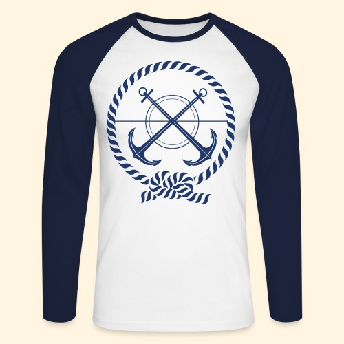 Ancoras - Men's Long Sleeve Baseball T-Shirt