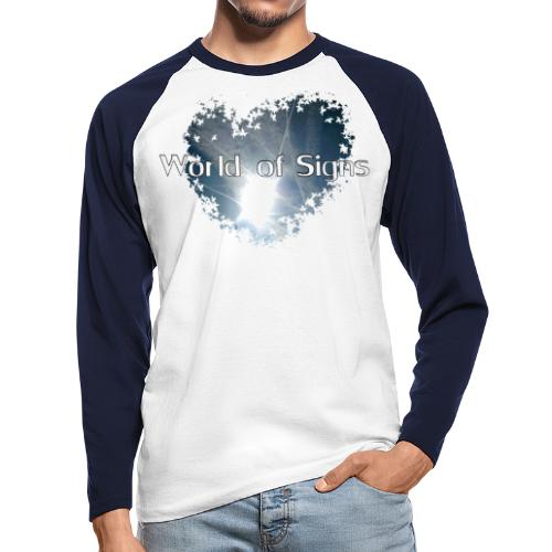 World of Signs Heart - Men's Long Sleeve Baseball T-Shirt