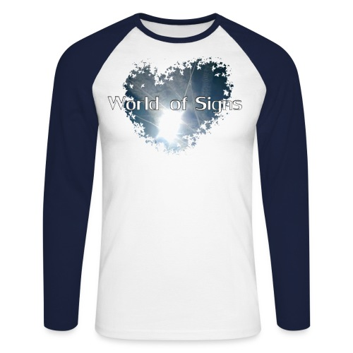 World of Signs Heart - Men's Long Sleeve Baseball T-Shirt