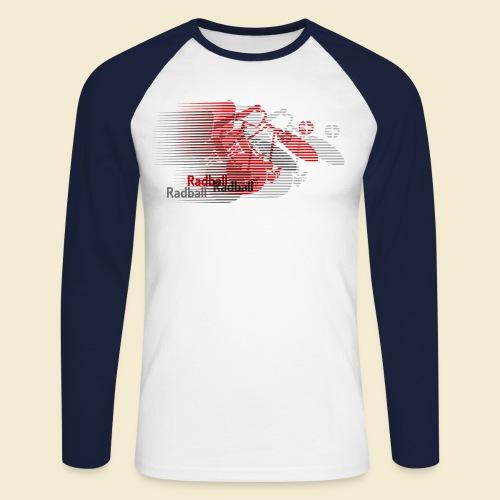 Radball   Earthquake Red - Männer Baseballshirt langarm