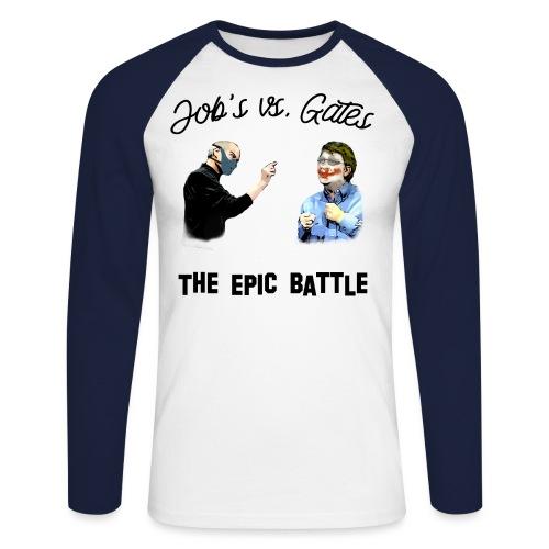 Jobs versus Gates - Männer Baseballshirt langarm