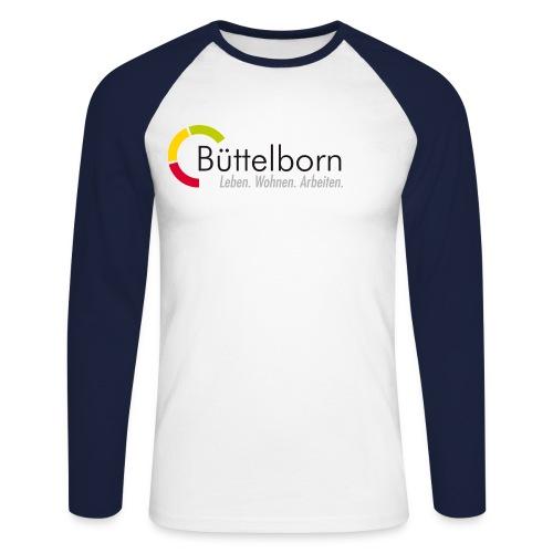 Logo Gemeinde Büttelborn - Männer Baseballshirt langarm