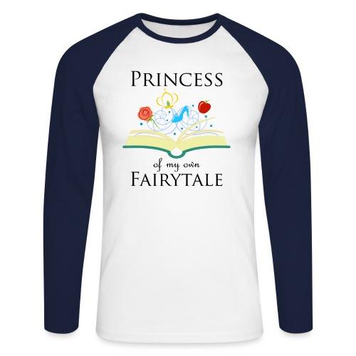 Princess of my own fairytale - Black - Men's Long Sleeve Baseball T-Shirt