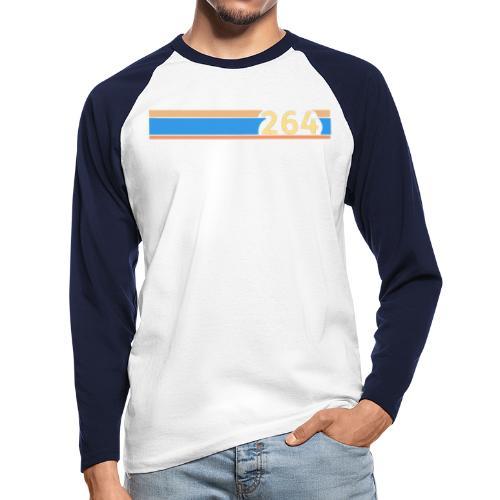 264 chest line - Men's Long Sleeve Baseball T-Shirt