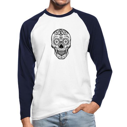 Skull black - Männer Baseballshirt langarm
