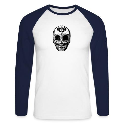 Skull of Discovery - Men's Long Sleeve Baseball T-Shirt