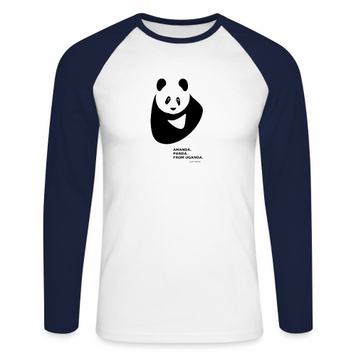 Panda from Uganda - Men's Long Sleeve Baseball T-Shirt