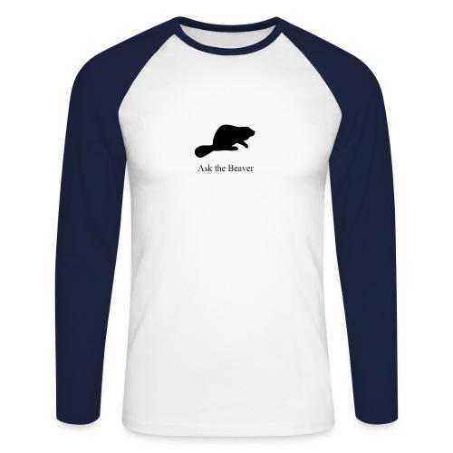 Ask the Beaver Collection [clean collection] - Männer Baseballshirt langarm